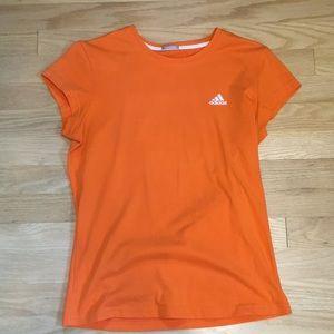 Adidas fitted orange tee